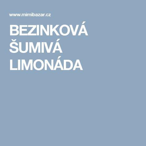 BEZINKOVÁ ŠUMIVÁ LIMONÁDA