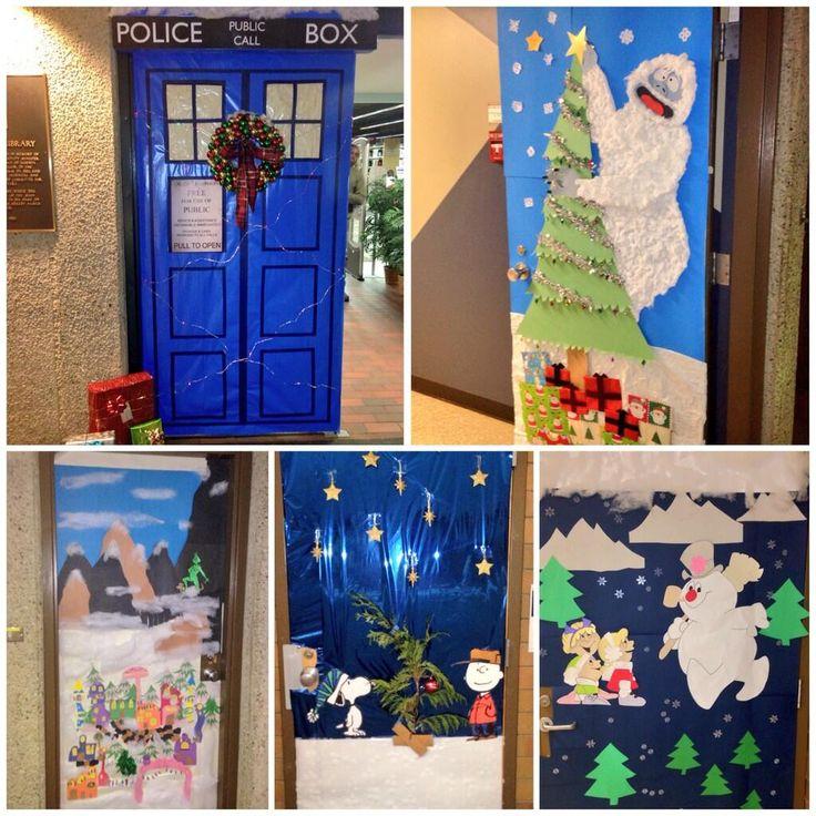U-Wing staff compete in a holiday door decorating contest! #yeg #Edmonton #NAIT #festiveNAIT