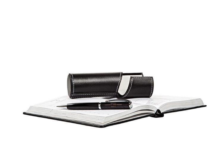 A branded pen giving prestige. Elegant and ideal to hold, the pen bearing the Hotel Grande Bretagne's signature is an integral accessory for every woman's and man's bag.