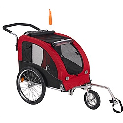 @Overstock - Take your dog along for the ride with this red stroller kit. Convenient features include easily removable wheels for convenient storage in your car or garage, and a roof opening with a sunscreen to keep your dog happy and comfortable.http://www.overstock.com/Pet-Supplies/Merske-Large-Red-Comfy-Dog-Bike-Trailer-Stroller-Kit/6644161/product.html?CID=214117 $189.99