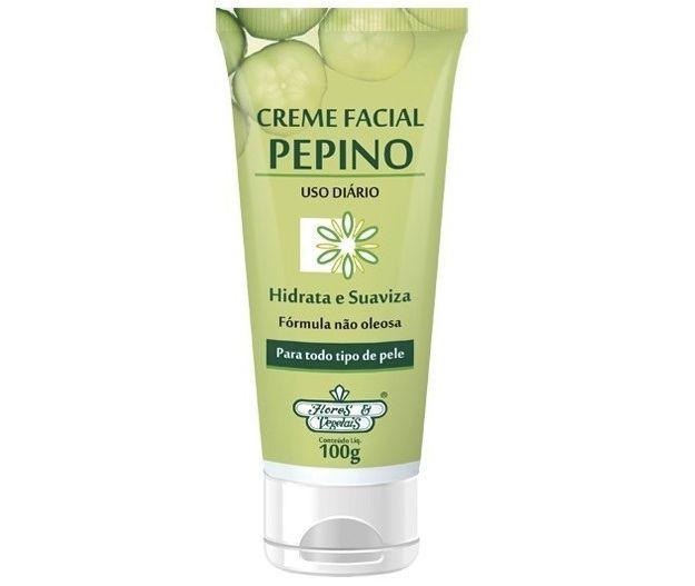 Creme facial de pepino Flores e Vegetais. | 16 produtos de beleza baratos que você não imagina que são tão bons
