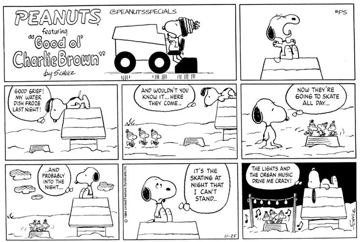 www.peanuts.com First appearance:November 25th, 1984 #peanutsspecials #ps #pnts #peanuts #featuring #goodolcharliebrown #schulz #snoopy #woodstock #goodgrief #skate #lights #organ #music #crazy