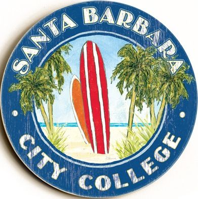 Santa Barbara City College Custom Sign: Beach House Decor, Coastal Decor, Nautical Decor, Coastal Living Boutique, Tropical Decor