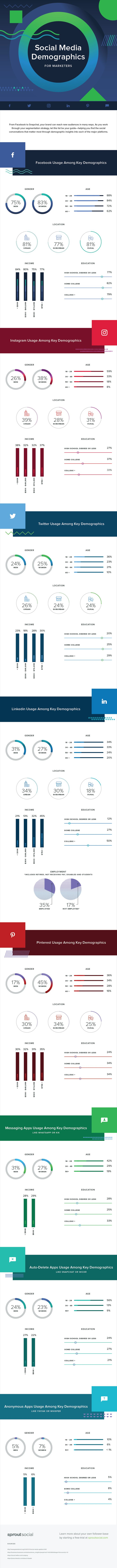 Social Media Demographics to Inform a Better Segmentation Strategy - #Infographic