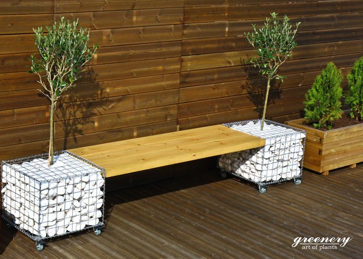 Gabion bench - Gabion creations by greenery #gabion #gabioncreations #pots #greenery #airplants #succulents #cactus #plants #chania #greece