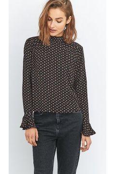 Urban Outfitters - Chemisier noir imprimé à plis - Femme 38 https://modasto.com/cooperative-by-urban-outfitters/kadin-ust-giyim-gomlek-bluz/br47186ct4