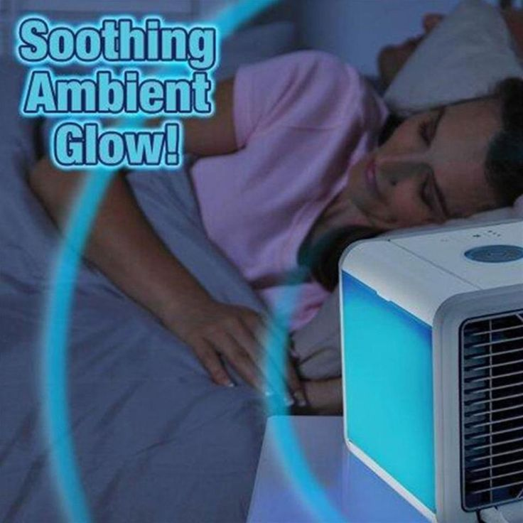 Mini Portable Air Conditioner, Personal Space Cooler Cooling Fan Air Purifier, Humidifier Cool Any Space, 7 Colors Nightstand As Seen On TV Desktop
