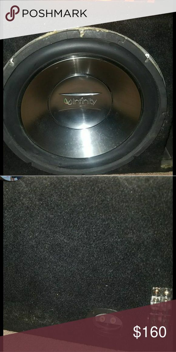 Infinity reference 12in subwoofer with box Its in pretty good condition and comes with box (amp not include but have a couple if needed just ask me) Infinity references Other