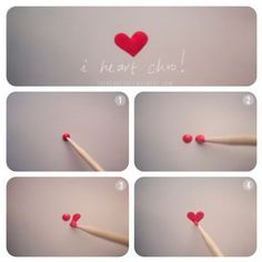 How to make a heart on your nails