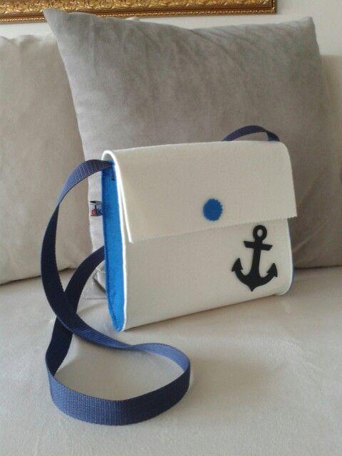 Denizci keçe çanta