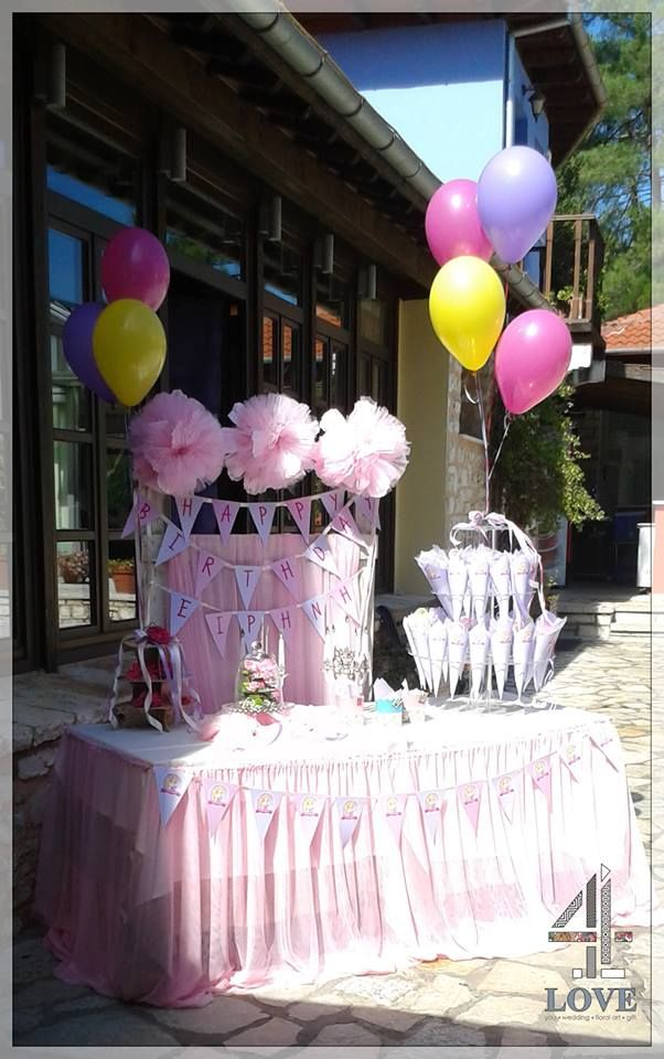 Παιδικό πάρτυ σε ροζ αποχρώσεις με αναφορά σε γνωστά πριγκίπισα - Concept Stylist Μάνθα Μάντζιου