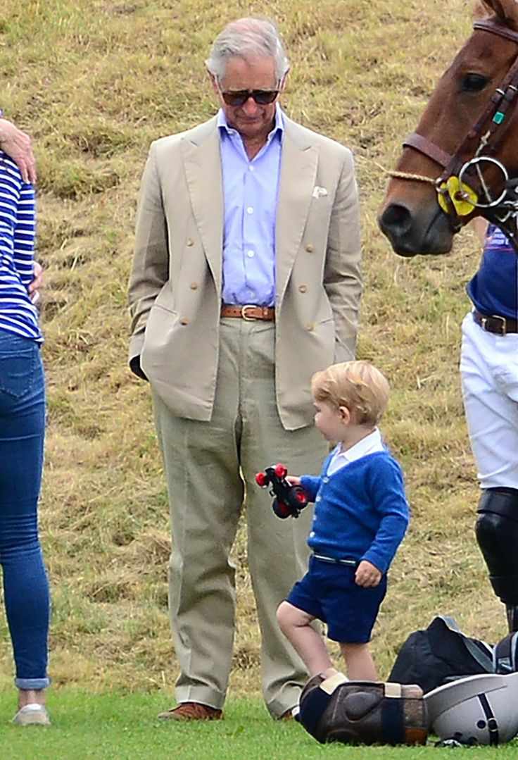 Even granddad Prince Charles joined the family fun in Gloucestershire.