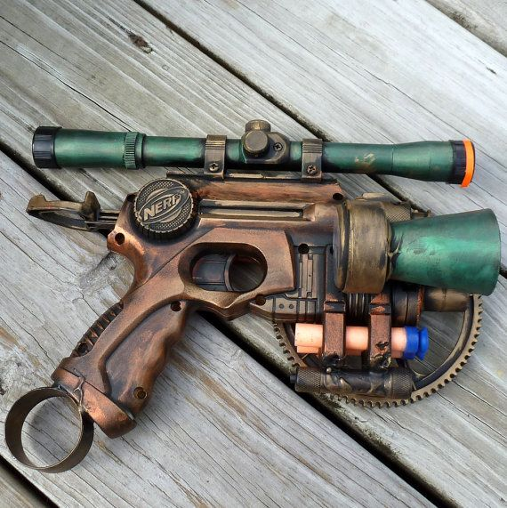 gun: Nerf Guns Steampunk, Steampunk Fantasy, Steampunk Guns, Nerf Zombies, Steampunk Victorian, Victorian Tesla, Steampunk Nerf, Tesla Guns, Guns Nerf