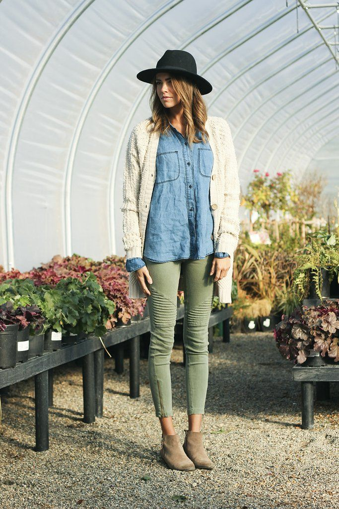 Olive Moto Jeggings #bottom #bottoms #jeans