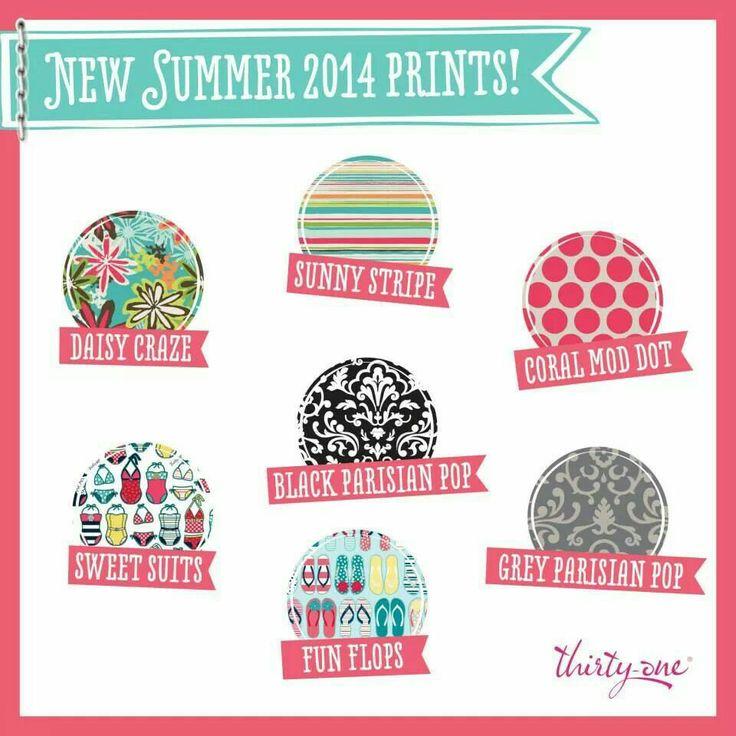 New Patterns! Summer 2014  ~ Thirty One Gifts www.mythirtyone.com /LindseyMonroe