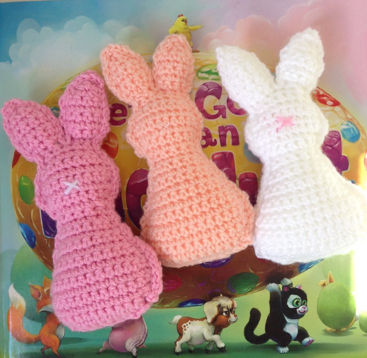 Handmade crochet rabbit friends. Available in any colours. Cute companions for your little loved ones.