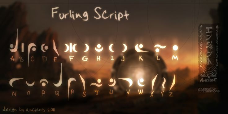 Furling Font from Stargate SG1 by NickPolyarush Would make for a good base for some alphabets I can't come up with myself for my conlangs