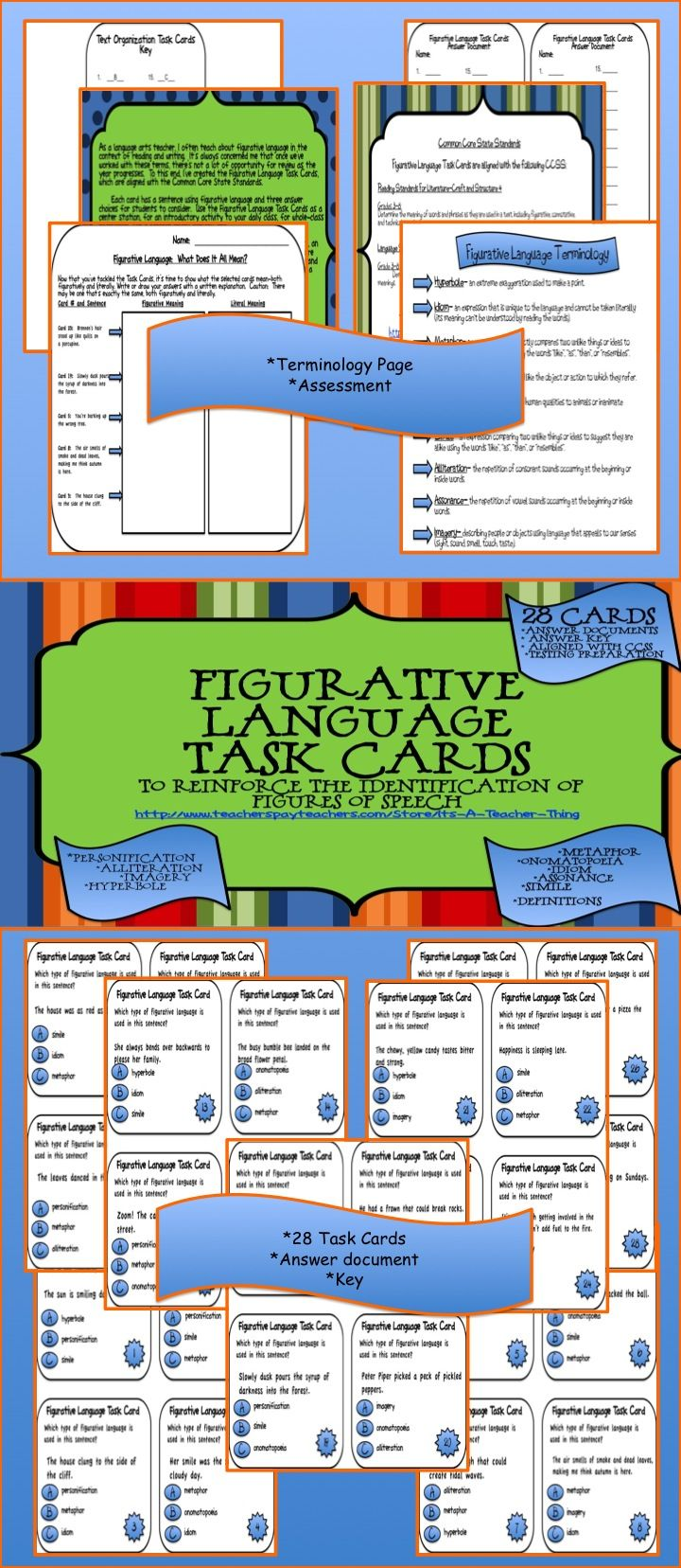 136 best 5th grade images on pinterest school classroom decor and i often teach about figurative language in the context of reading and writing its always fandeluxe Gallery