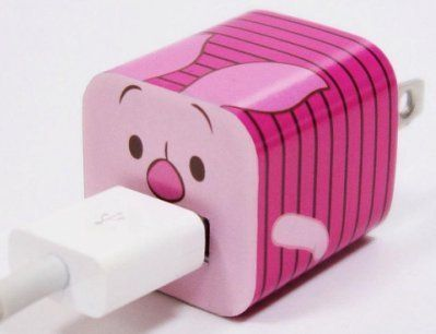 Disney Iphone Charger USB Skin Sticker Wrap (Winnie the Pooh)