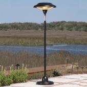 Floor Standing Hammer Tone Bronze Halogen Heater