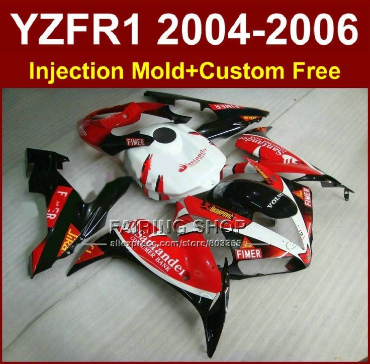 395.60$  Buy here - http://aliwic.worldwells.pw/go.php?t=32363454310 - ABS plastic motorcycle road/race Injection fairings for YAMAHA R1 2004 2005 2006 YZFR1 YZF1000 YZF 04-06 santander fairing kit 395.60$
