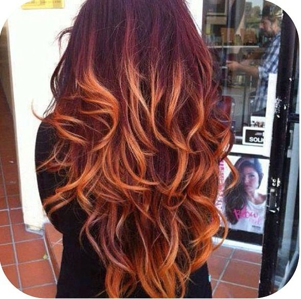Best 25 Red Hombre Hair Ideas On Pinterest Fire Red