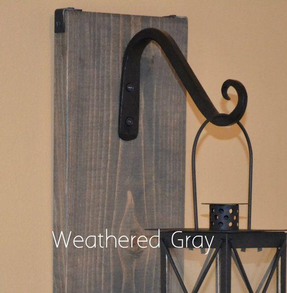 Lantern Sconce Hanging Candle Lantern Pair by EllaMurphyDesigns