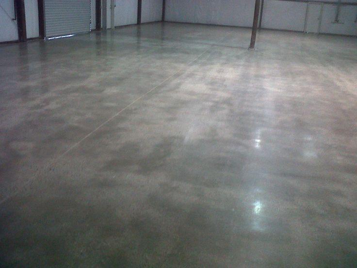 Polished concrete pea gravel sized aggregate exposure - Hormigon pulido para interiores ...