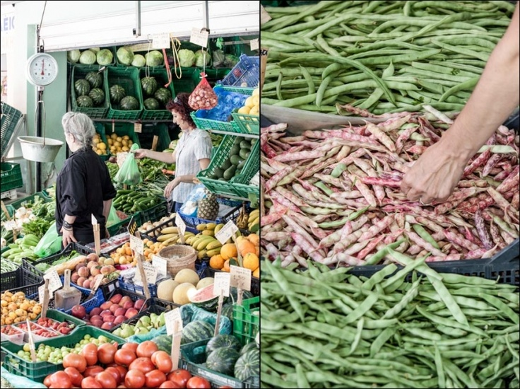 The heraklion market is always full of life!