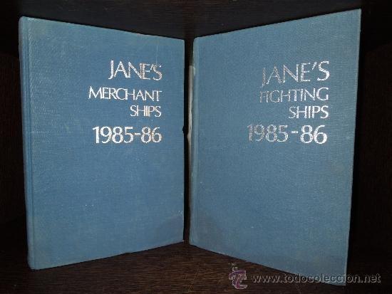 LIBRO BARCOS DE GUERRA JANE'S FIGHTIN SHIPS 1985-86 Y JANE'S MERCHANT SHIPS BARCOS MERCANTES 1985-86