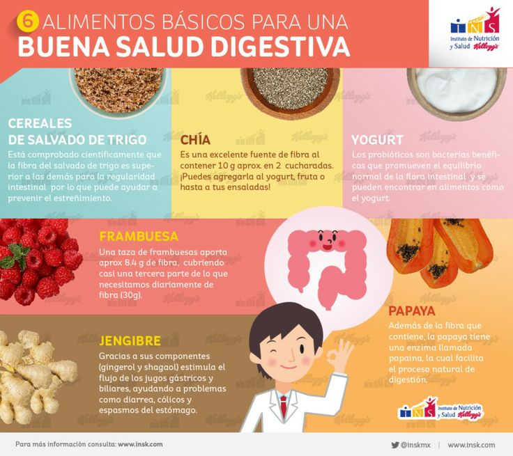 #Infografia: 6 #alimentos básicos para una buena #salud digestiva
