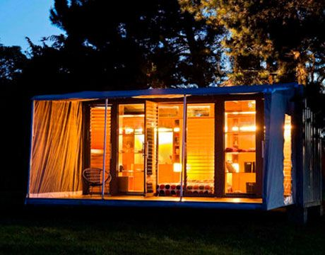 Best Shipping Container Studio Images On Pinterest Shipping - All terrain cabin shipping container homes