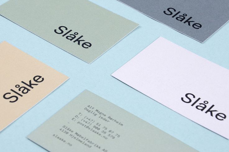 "Visual Identity for small furniture factory Slåke by Montaag""Inspired by…"