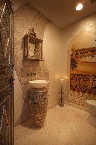 I colori della terra per un bagno in stile marocchino | Bagni dal mondo | viaggio virtuale nei bagni di tutto il Mondo