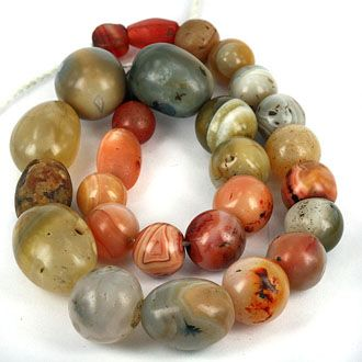 20 inches old world beads 1000+ years old 900$ SKJ ancient bead art | item description | agateline2