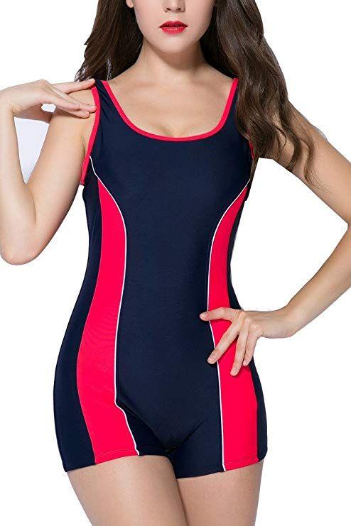 09fe5e5ab beautyin Women s One Piece Swimsuits Boyleg Sports Swimwear in 2019 ...