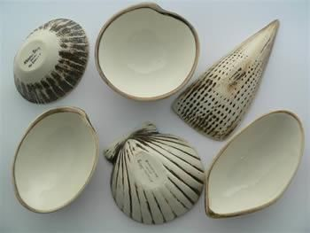 Royce McGlashen Shell Dipping Bowls 6 Set