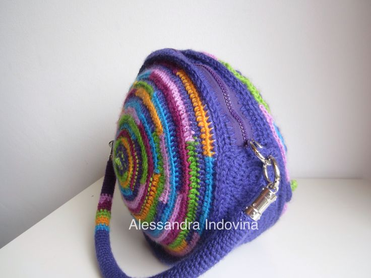 "Freeform crochet. ""My eccentric bag"""