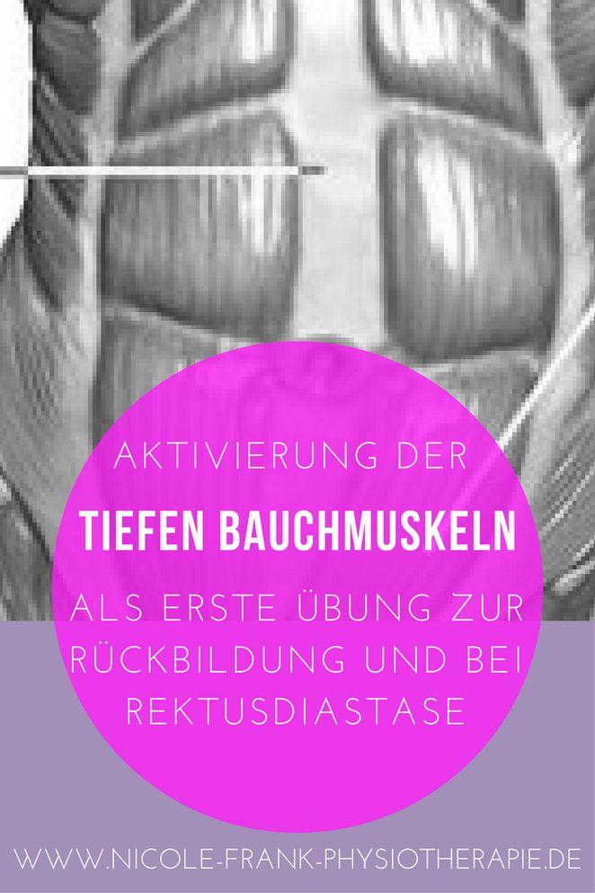 Aktivierung der tiefen Bauchmuskulatur zur Rückbildung und bei Rektusdiastase ist das Wichtigste, das Du von Anfang an tun solltest, um Deinen Bauch in den Griff zu bekommen.
