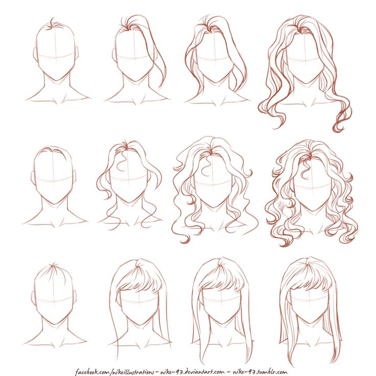 How I draw long hair by Nike-93.deviantart.com on @DeviantArt