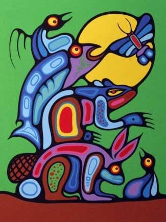 Mark Anthony Jacobson (Ojibwe) - available works for sale - original woodlands art