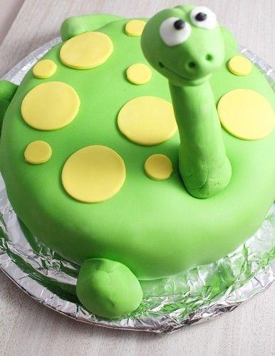 Gâteau d'anniversaire 'Gentil Dino'