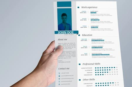 Creativemarket Clean Resume + Cover letter 20011