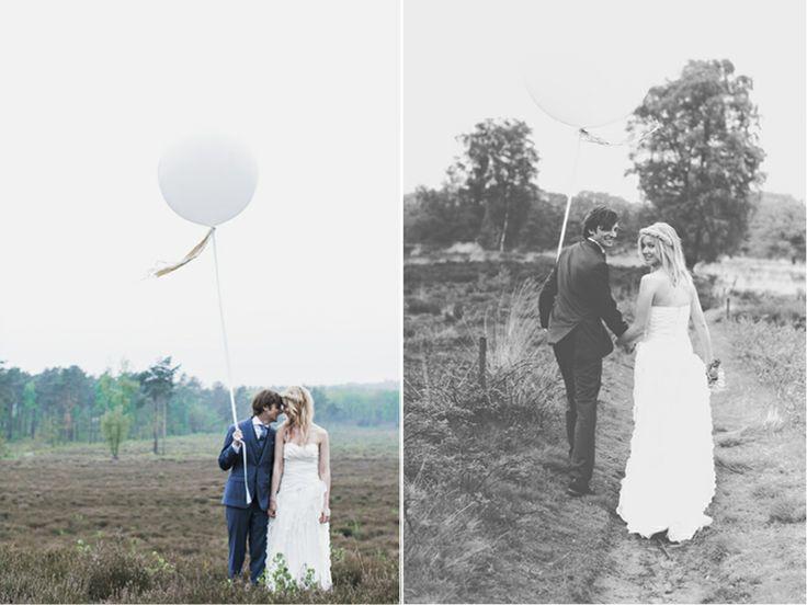 super mooi, een grote ballon als decoratie en voor de foto's