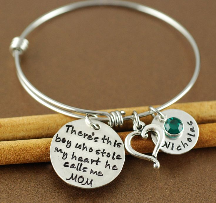 bracelets hand silver beloved stacking photo stamped new bangle personalized gold front bangles and