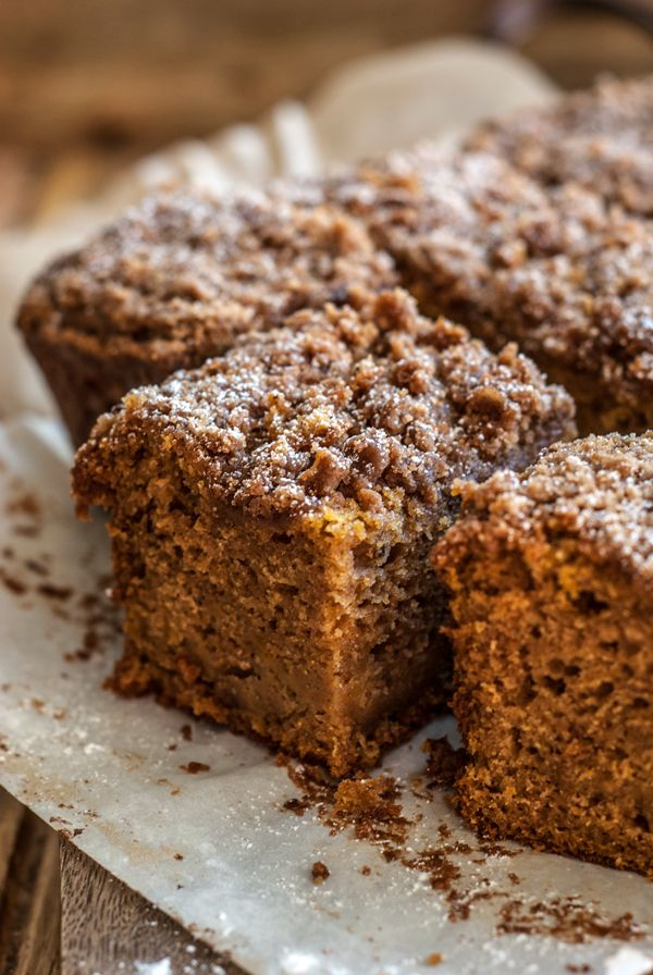 Recipe for an addictive cream cheese butternut squash coffee cake. So moist and tender with an incredible texture and the perfect amount of spices.