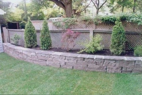 Raised Flower Bed Along The Fence Line Dream Home Pinterest Gardens Decks And Backyards