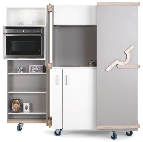 c 1m2 la cuisine compacte et nomade imagin e par neff et le studio design sifferlin bien. Black Bedroom Furniture Sets. Home Design Ideas