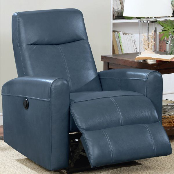 Claredon Leather Gel Power Wall Hugger Recliner With Massage In 2020 Wall Hugger Recliners Blue Living Room Recliner