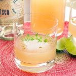 A Pitcher of Pisco with Grapefruit, Lime and Thyme